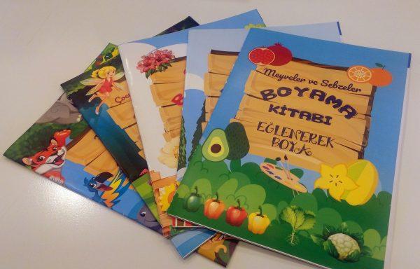 (Turkish) 5'li Boyama Kitabı Seti